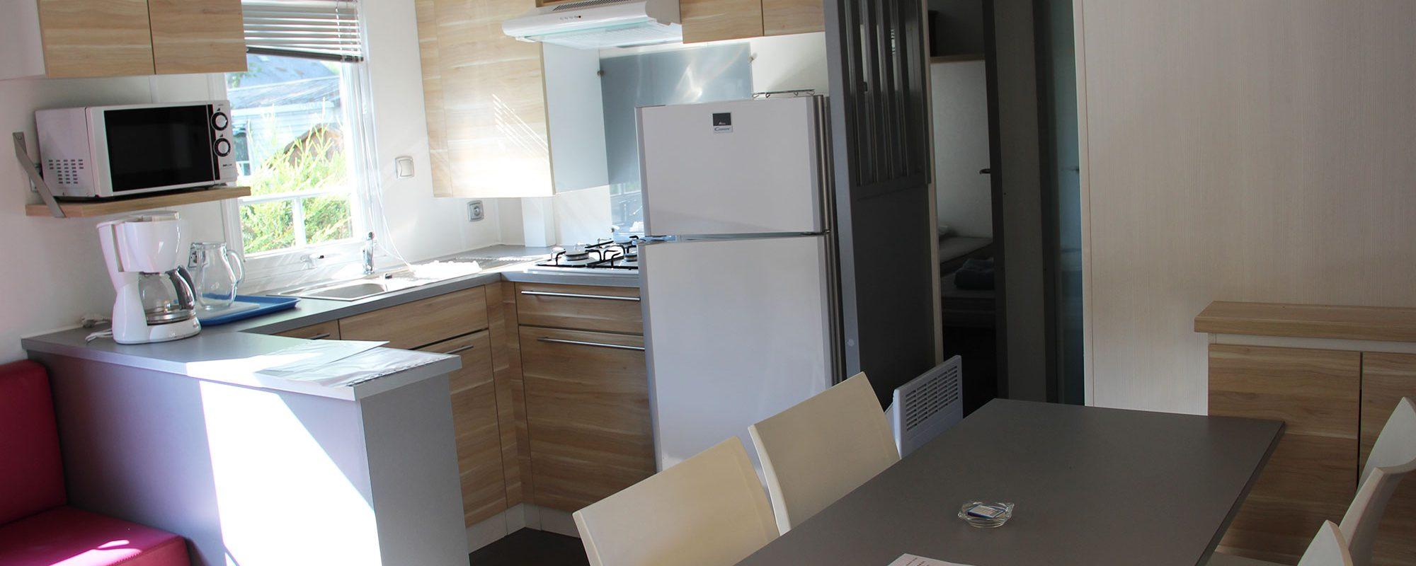 de mobilhome confort Loire Atlantique : cuisine