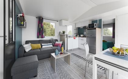 Location de mobil-home Corail 3 chambres à Guérande cuisine