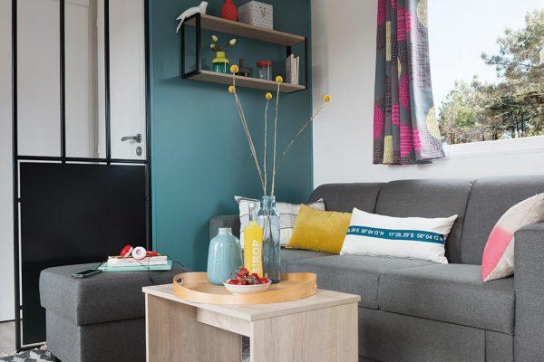 Location de mobil-home Corail 3 chambres à Guérande : salon