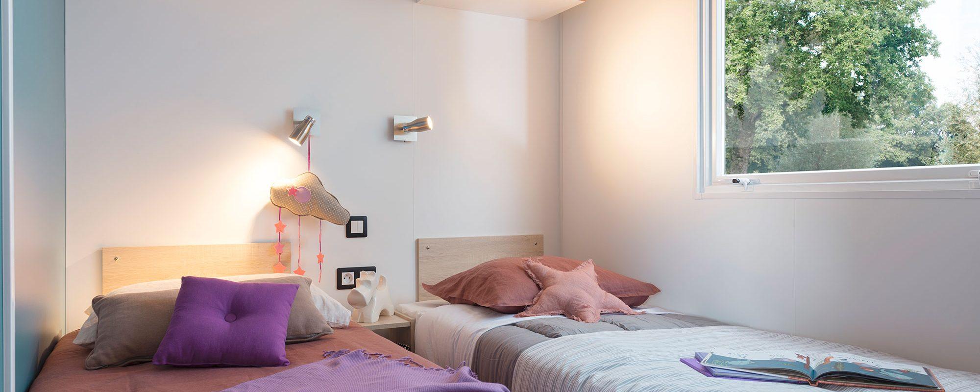 Location de mobilhome 2 chambres Loire Atlantique : chambre