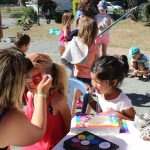 Atelier maquillage au camping