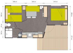 Location de mobilhome pêcheur Loire Atlantique : plan
